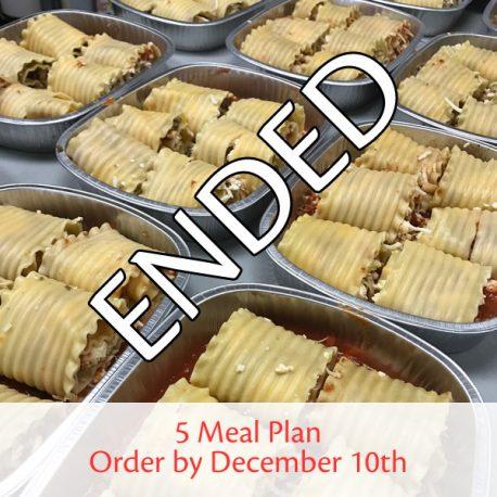 5-Meal-Dec-10 ENDED