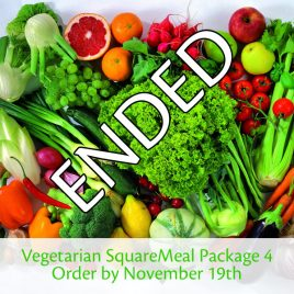 SquareMeal 5-Meal Vegetarian Package – Order by November 19th