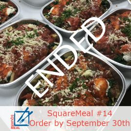 SquareMeal #14 – Order by September 30th