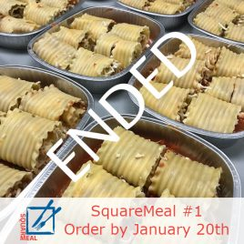 SquareMeal #1 – Order by January 20th